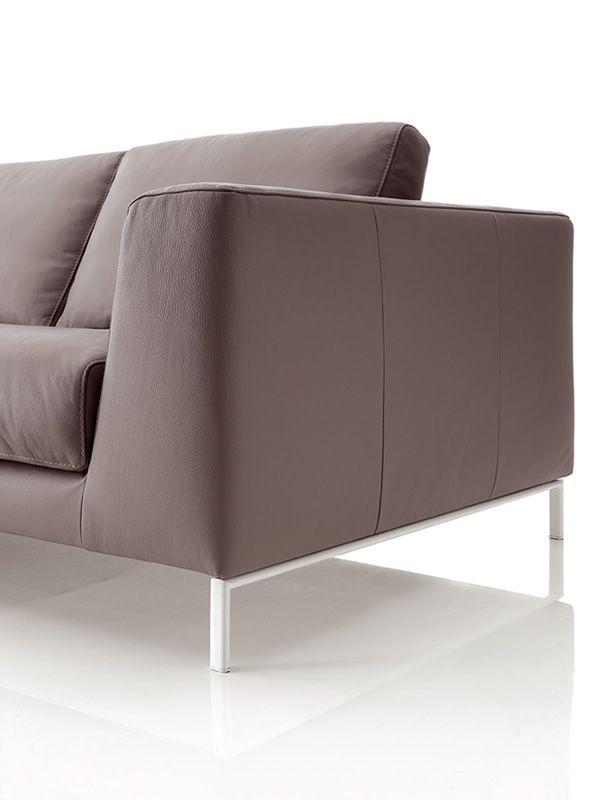 Chennai maxi divano design 6 posti in tessuto ecopelle - Divano in pelle o ecopelle ...