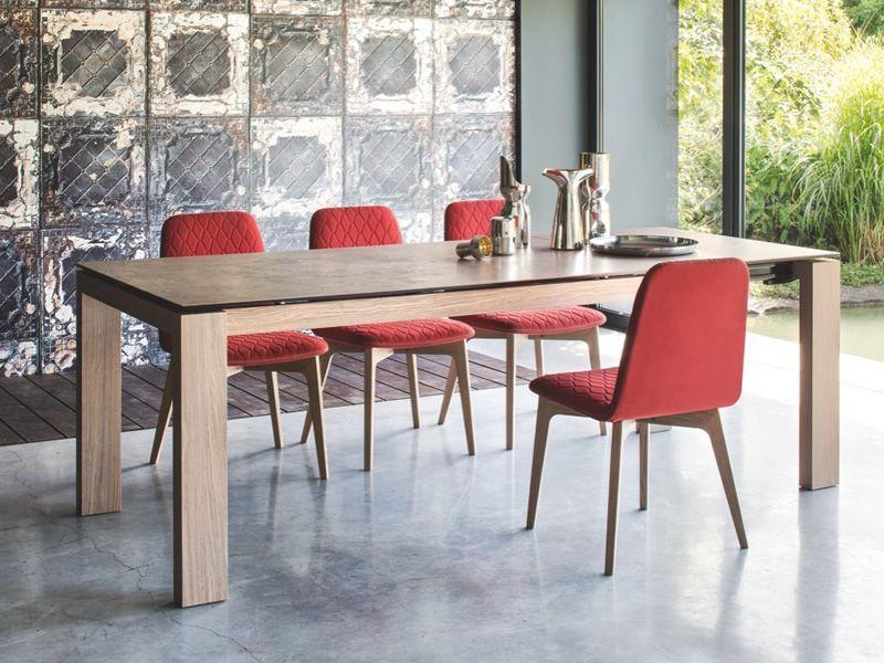 Cs4069 lv 160 sigma tavolo allungabile calligaris in legno piano in vetro o ceramica 160 x 90 - Tavolo vetro allungabile calligaris ...