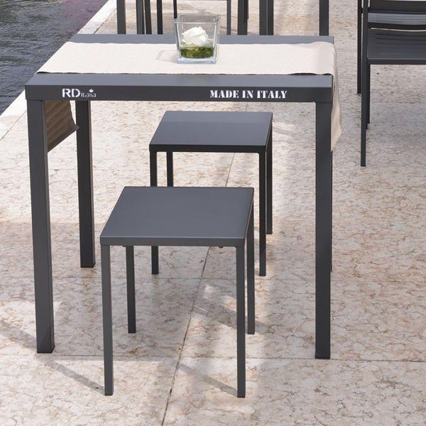 Rig72b sgabello basso tavolino in metallo impilabile for Tavolino sgabello