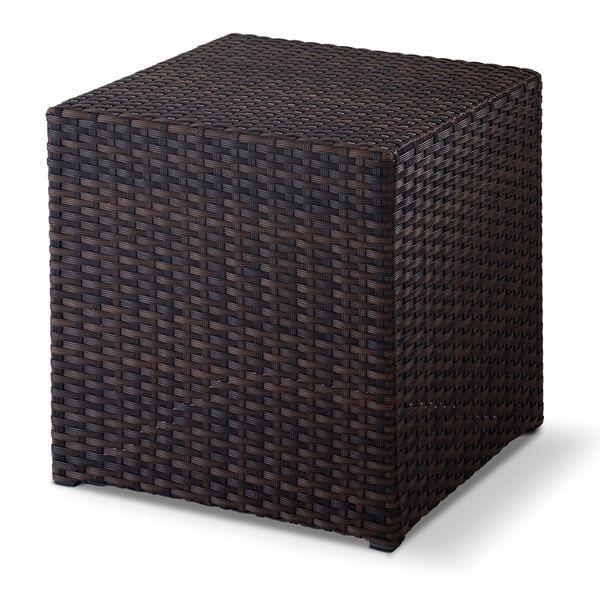 Tt26 sgabello tavolino pouf in alluminio e simil rattan for Tavolino sgabello