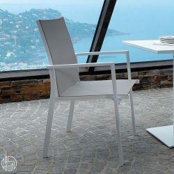 maiorca stuhl aus aluminium und textilene in verschiedenen farben verf gbar f r garten. Black Bedroom Furniture Sets. Home Design Ideas