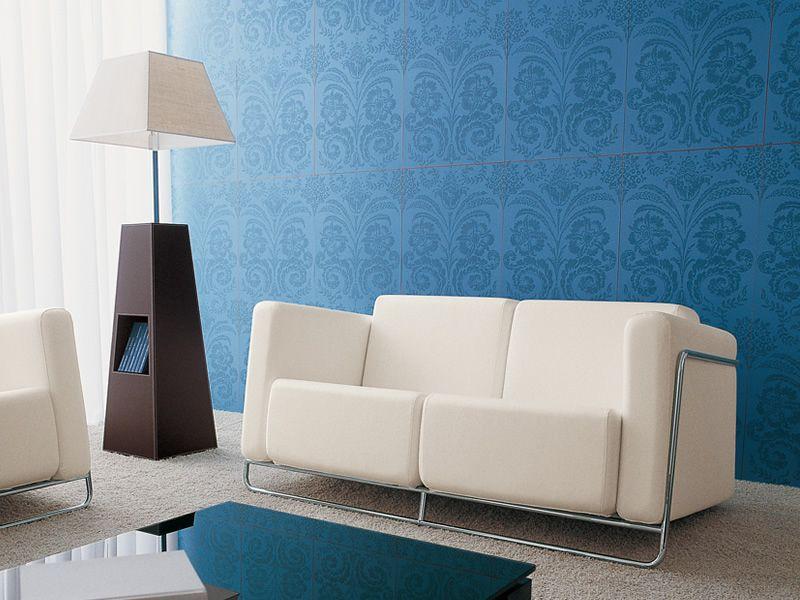 Flat 2 divano midj in metallo con seduta in similpelle - Divano due colori ...