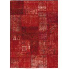 Antalya Red - Tapis rouge en pure laine vierge, tissé à la main