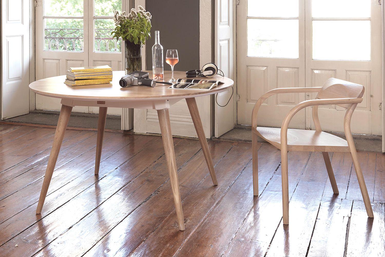 Maria tavolo rotondo in legno fisso 130 cm - Tavolo rotondo in legno ...