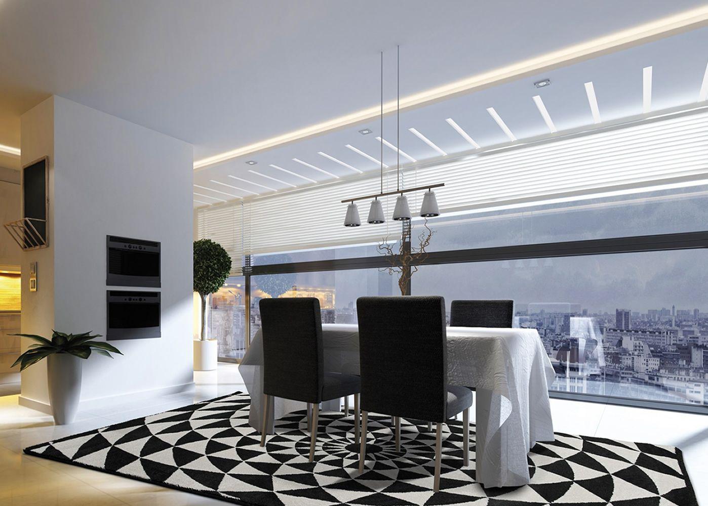 Biancaneve tappeto moderno fantasia in bianco e nero for Tappeto nero moderno