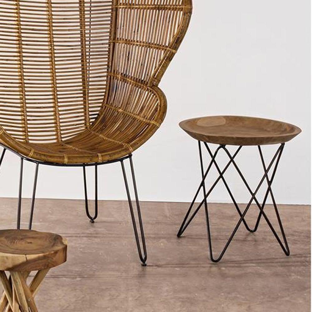 marrakech table basse design avec structure en m tal et plateau en bois de teck sediarreda. Black Bedroom Furniture Sets. Home Design Ideas