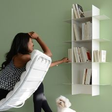 Innesto - Design modular bookcase in metal, available in different colours