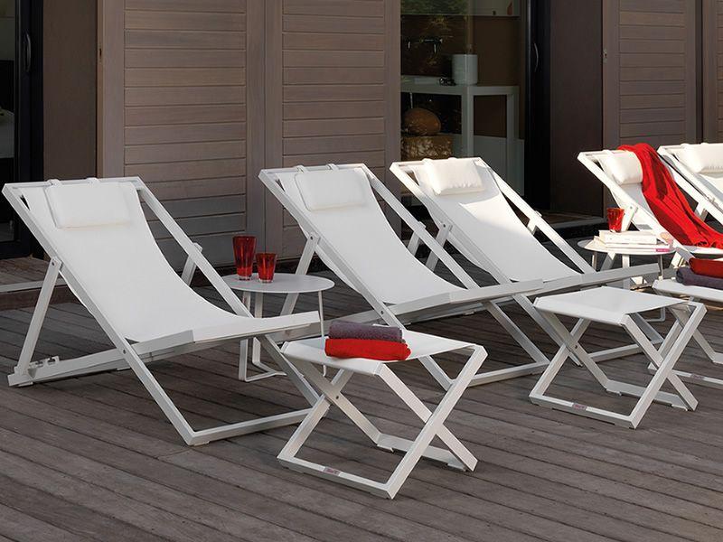 Klappliegestuhl metall  Touch: Liegestuhl aus Aluminium und Textilen, mit verstellbarer ...