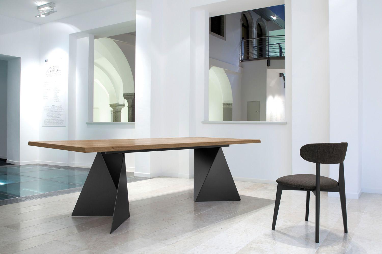 Euclide f tavolo fisso domitalia in metallo piano in for Tavolo legno piano marmo
