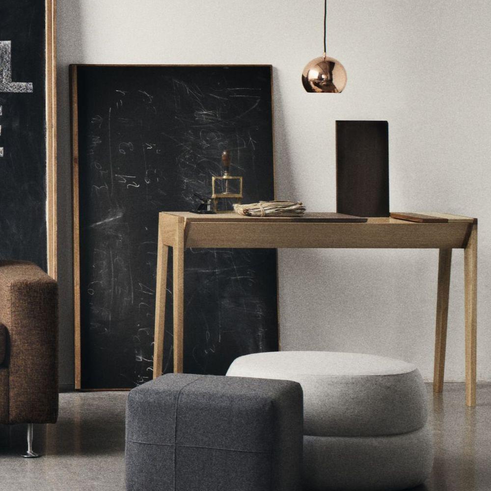Arbor scrivania in legno con scompartimenti for Scrivania design outlet