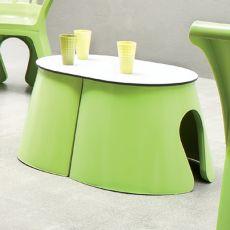 Flower Tavolo - Tavolino di design adatto per l'esterno, disponibile in diversi colori