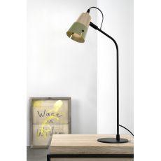Cone T - Lampada da tavolo Universo Positivo in legno e metallo, diversi colori disponibili