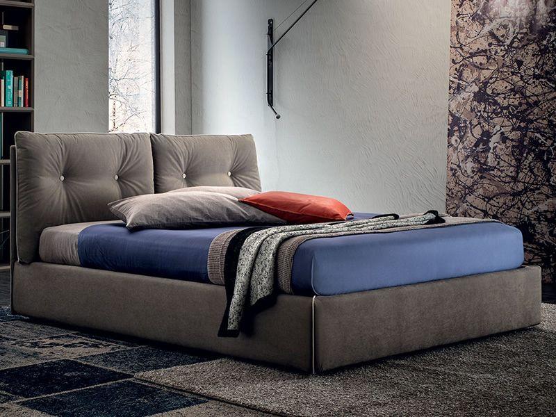 scarlett lit double rembourr compl tement d houssable avec coffre de rangement disponible. Black Bedroom Furniture Sets. Home Design Ideas