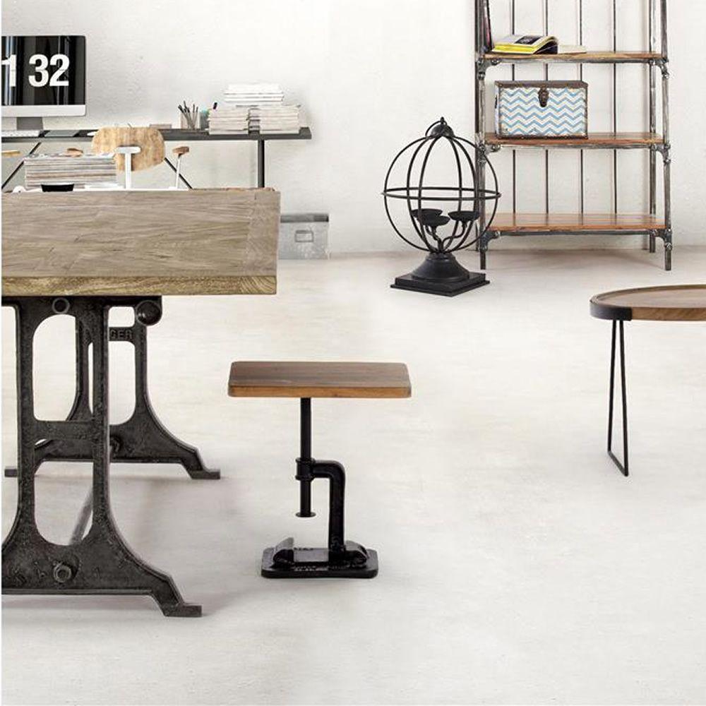 Accra s tavolino o sgabello urban style in ferro con for Sedie legno e ferro