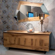 Alizée - Modern wooden sideboard, available in several dyes, 163x55 cm