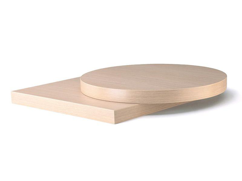 VB19 | Plateau pour table en stratifié, finitions en chêne rouvre