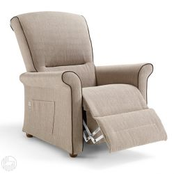 Fly Relax: Electric Global Relax Armchair In Fabric, Leather Or Artificial  Leather, Adjustable   Sediarreda Online Sale