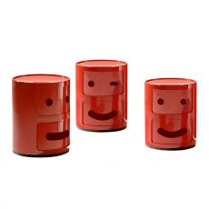 Componibili Smile - Design Kartell container, in ABS, equipped with two sliding doors, also for garden