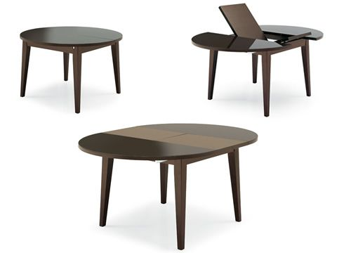 4717 table ronde rallonge plan en verre de diam tre 120 cm sediarreda. Black Bedroom Furniture Sets. Home Design Ideas