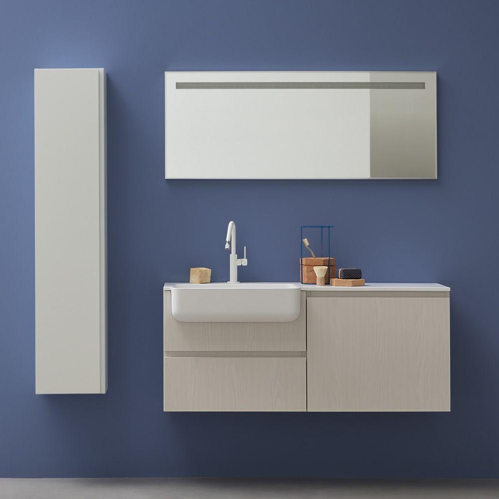 Riga specchio rettangolare con luce led disponibile in diverse misure sediarreda - Misure specchio bagno ...