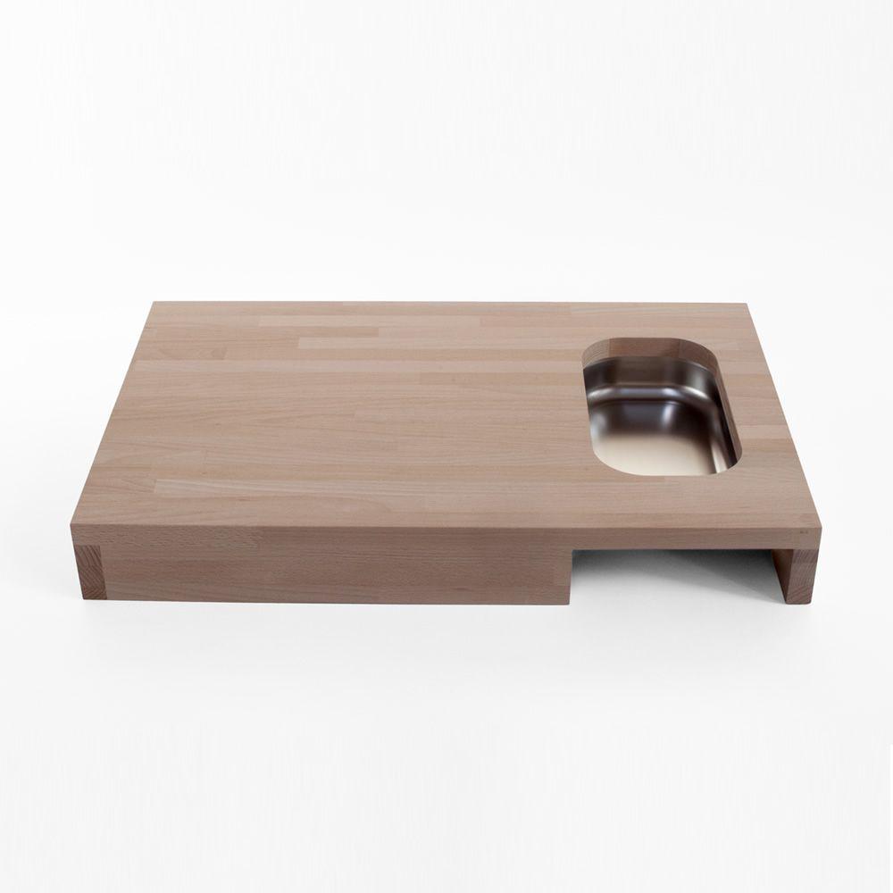 chop planche d couper en bois avec bac alimentaire en acier inoxydable sediarreda. Black Bedroom Furniture Sets. Home Design Ideas