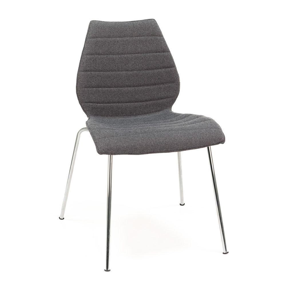 Maui soft sedia kartell di design in metallo con seduta imbottita in tessuto disponibile in - Sedia di design ...