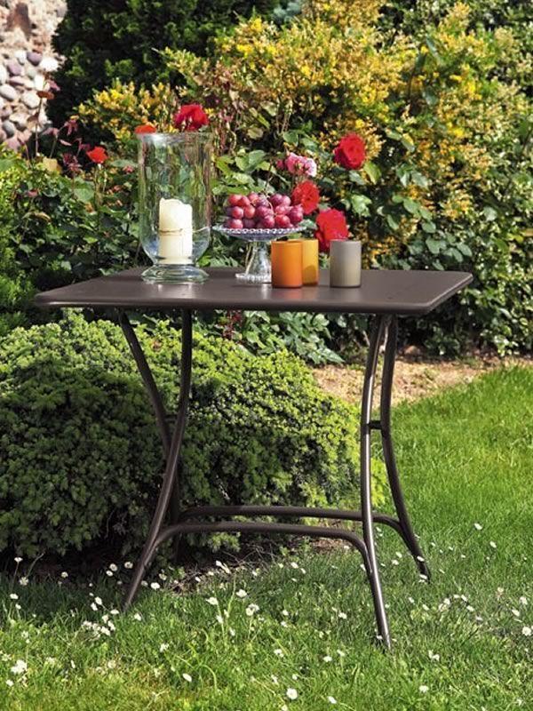 Pieghevole 2736 tavolo pieghevole in metallo per for Tavolo pieghevole design