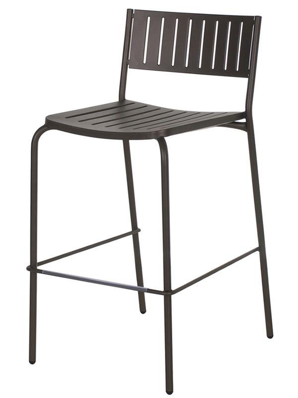 bridge s f r bars und restaurants barhocker aus metall stapelbar sitzh he 75 cm f r. Black Bedroom Furniture Sets. Home Design Ideas
