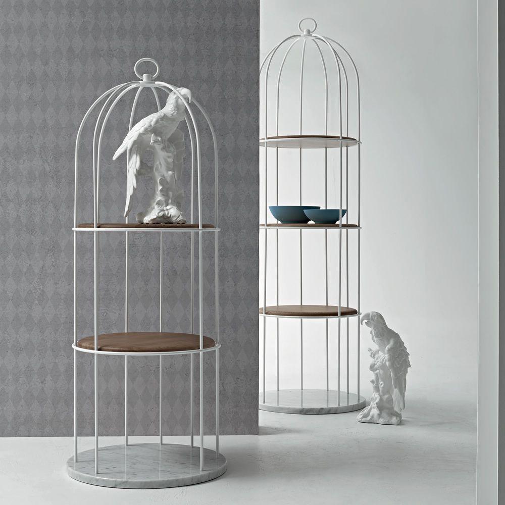 tweet 7245 b cherregal tonin casa aus metall mit f cher aus holz und untergestell aus marmor. Black Bedroom Furniture Sets. Home Design Ideas