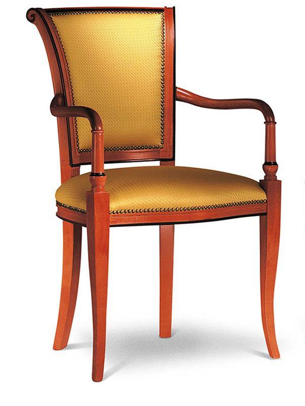 vst132 fauteuil en bois classique rembourr e diff rents. Black Bedroom Furniture Sets. Home Design Ideas
