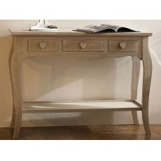 Ortigia - Shabby chic consolle in wood with drawers
