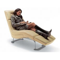 Matrix-Relax - Modern chaise longue in various fabrics, in artificial leather or leather