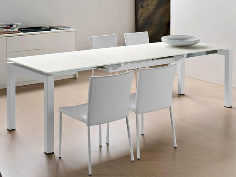 Cb4011 airport tavolo connubia calligaris in metallo for Calligaris tavolo allungabile