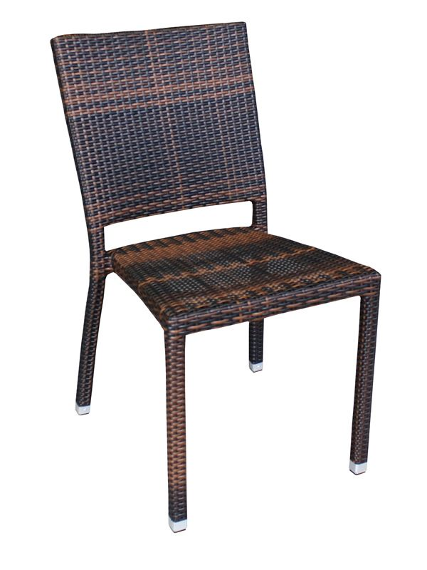 e18 chaise en aluminium et rotin synth tique pour. Black Bedroom Furniture Sets. Home Design Ideas