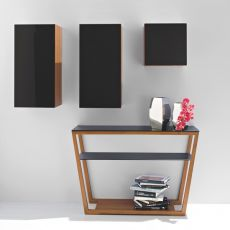 CB5044 Element - Connubia - Calligaris wooden console, glass top 120 x 40 cm
