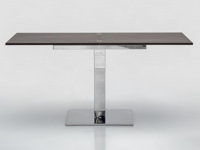cub 8073 verl ngerbarer tisch tonin casa aus metall platte aus melamin 80 x 80 cm sediarreda. Black Bedroom Furniture Sets. Home Design Ideas