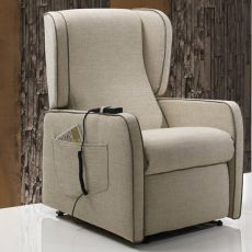 Azalea - Electric and adjustable relax armchair, different upholsteries and colours available, totally removable covering, also with Roller system and massage kit