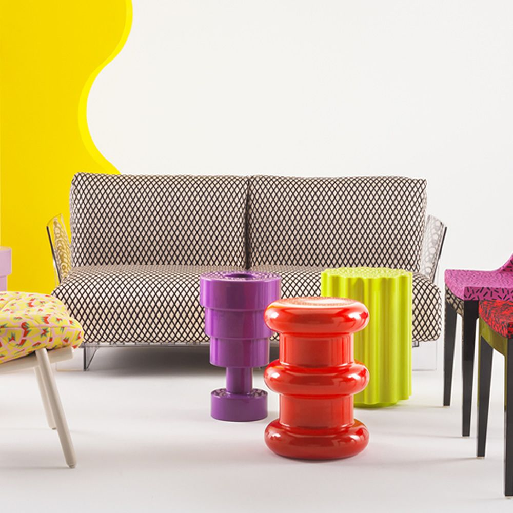 Pop by Sottsass: Design sofa Kartell, 2 or 3 seats, with ... for Ettore Sottsass Sofa  53kxo