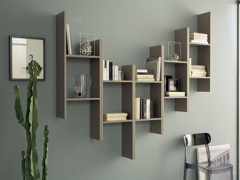 Game | Modular shelves made of melamine in rope colour