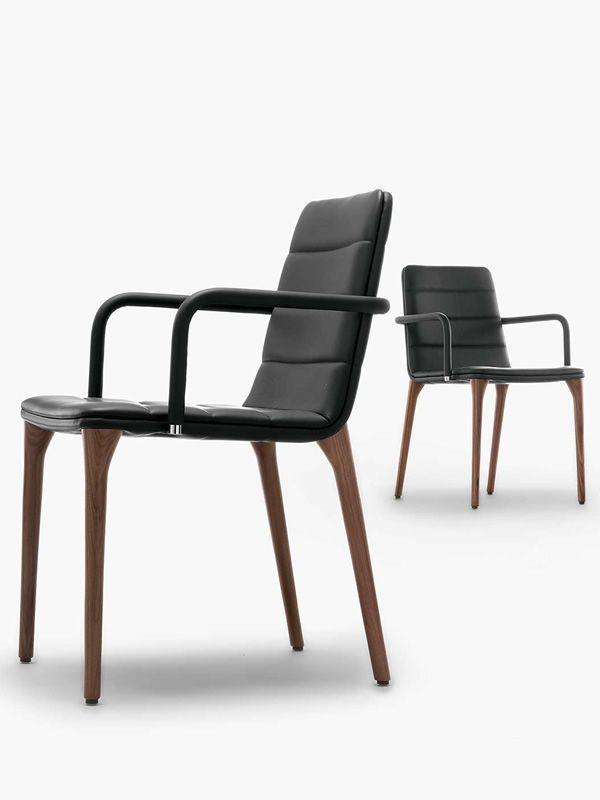 pit p design stuhl von tonon gepolstertes holz verschiedene farben sediarreda. Black Bedroom Furniture Sets. Home Design Ideas
