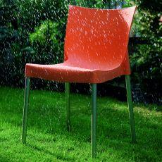 Diva Off - Sedia impilabile Bontempi Casa, in alluminio e polipropilene, disponibile in diversi colori, anche per esterno