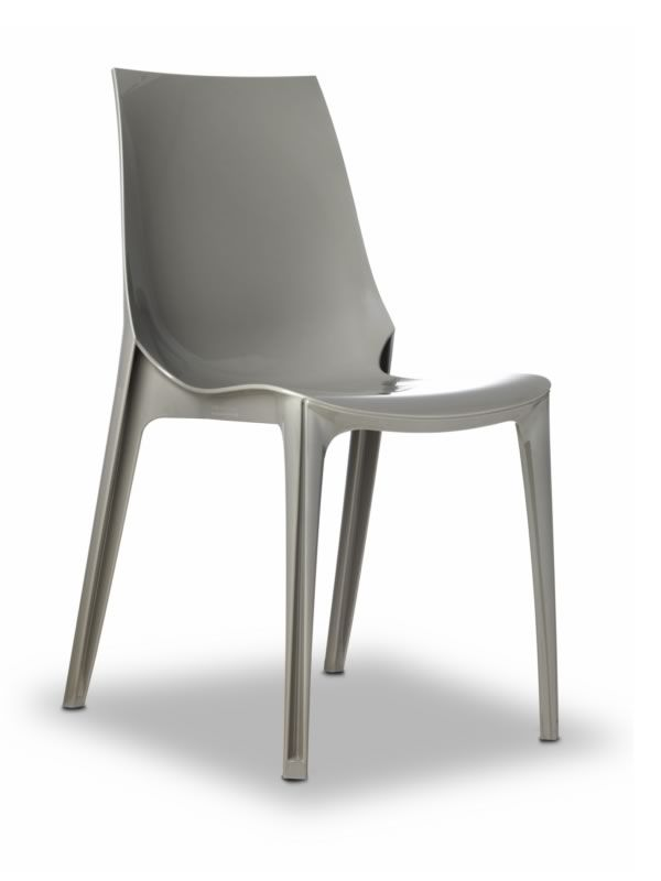 Vanity chair 2652 design stuhl aus polycarbonate for Design stuhl grau