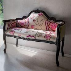 Fenice 1574A - Divanetto classico a 2 posti Tonin Casa in legno, diversi rivestimenti e colori disponibili
