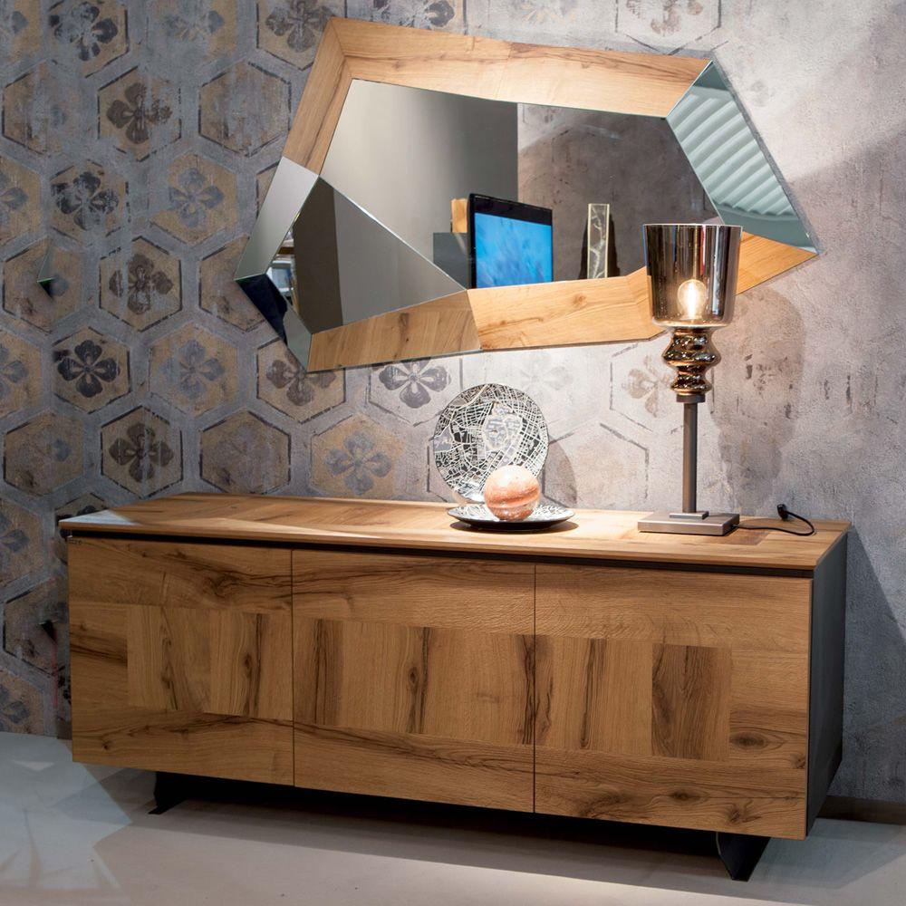 Trixy miroir moderne avec cadre en mdf et verre sediarreda for Miroir moderne
