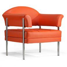 Daisy 1P - Poltrona di design con struttura in metallo, disponibile in diversi rivestimenti e colori