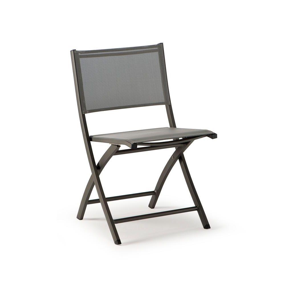 Tt961 sedia pieghevole in alluminio e textilene diversi for Sedie in alluminio