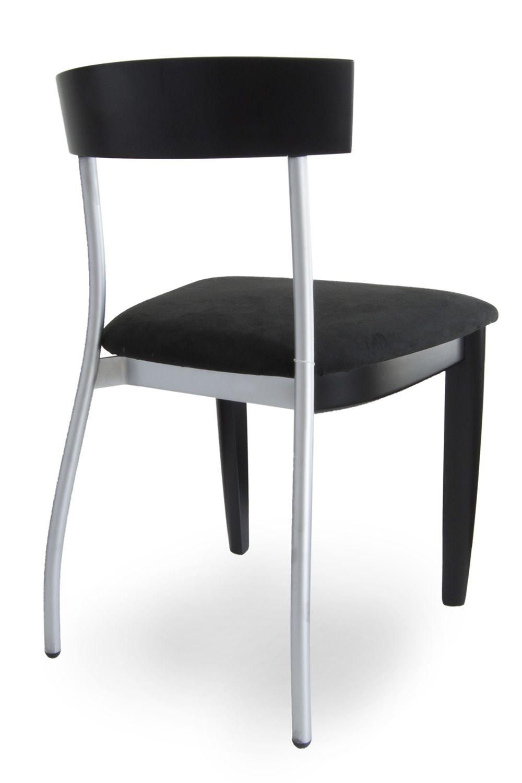 Vision sedia tonon di design con struttura in legno e for Sedie struttura acciaio satinato