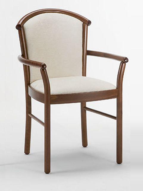 dolly b chaise en bois avec accoudoirs assise en simili cuir ou microfibre sediarreda. Black Bedroom Furniture Sets. Home Design Ideas