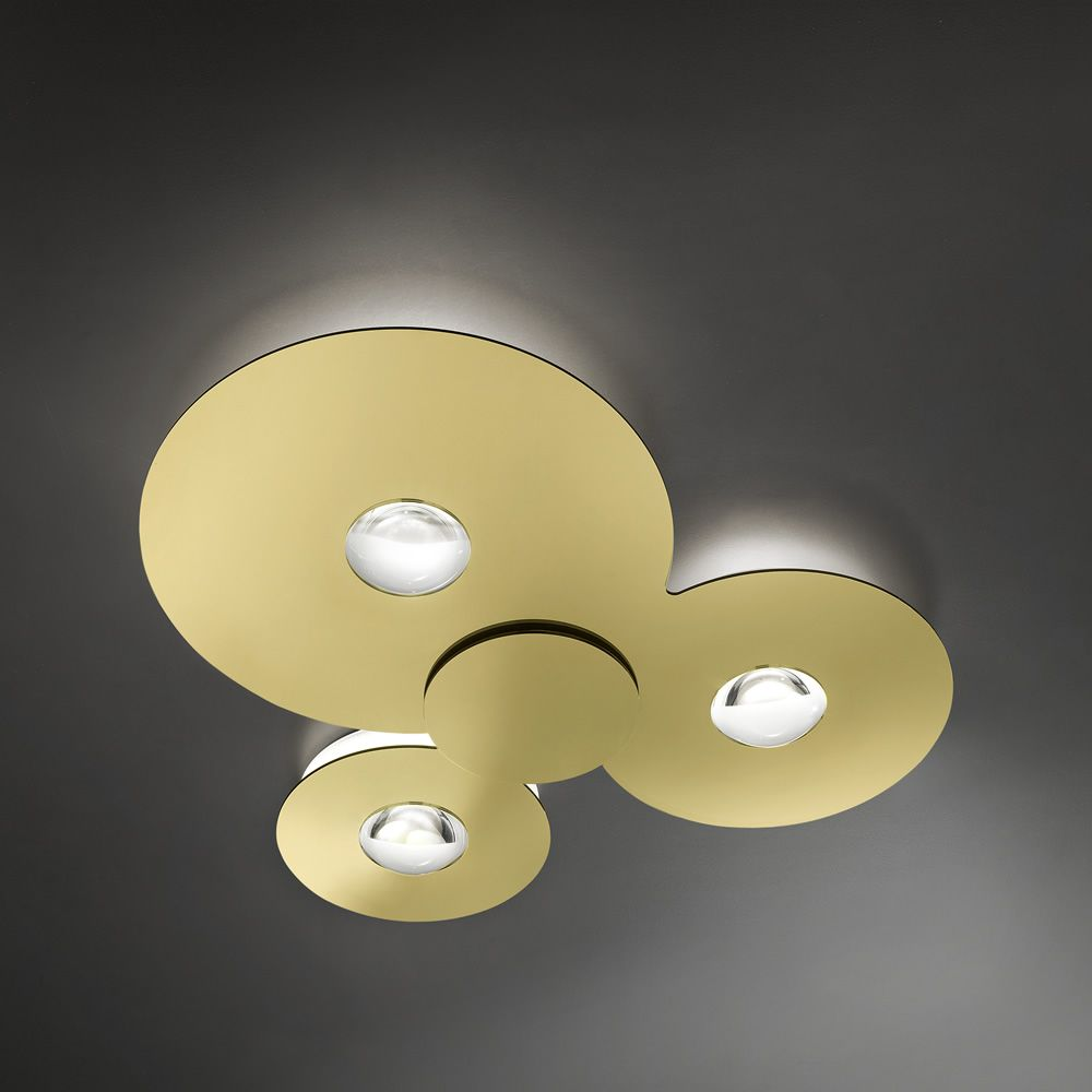 Bugia - Lampada da soffitto in metallo e plexiglass, color oro (misura ...