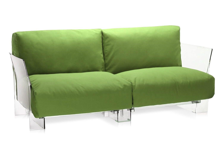 pop outdoor sofa designer sofa von kartell f r den au enbereich 2 sitze aus polykarbonat. Black Bedroom Furniture Sets. Home Design Ideas